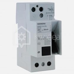 Interrupteur différentiel connexion à vis 40 ampères 30 ma type AC Siemens