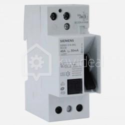 Interrupteur différentiel connexion à vis 40 ampères 30 ma type A Siemens