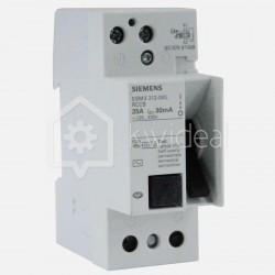 Interrupteur différentiel connexion à vis 25 ampères 30 ma type AC Siemens