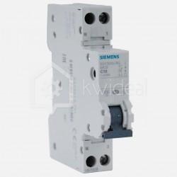 Disjoncteur PH+N connexion à vis 10 ampères - 4,5 KA - courbe C - 230 volts Siemens