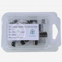 Connecteur Fas lock Eur'ohm 8 fils de 1.5 à 2.5 mm² colisage de 25 pièces