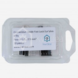 Connecteur Fas lock Eur'ohm 8 fils de 1.5 à 2.5 mm²