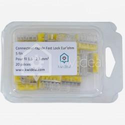 Connecteur rapide Eur'ohm Fastlock 5 fils de 1.5 à 2.5 mm²