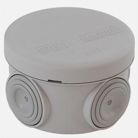 Boîte étanche Ø60mm P40 mm IP55 Eur'ohm