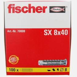 Cheville Fischer SX 8x40 mm pour vis de 4,5 à 6 mm