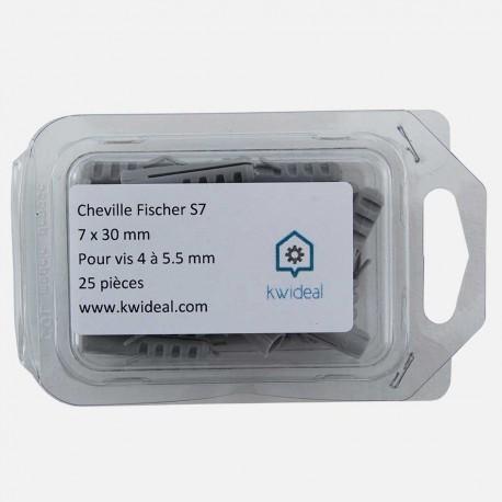 Cheville Fischer S7 7x30 mm pour vis 4 à 5,5 mm colisage de 50 pièces