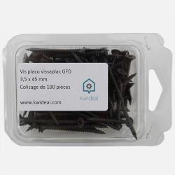 Vis placo phosphate 3,5x45 mm Vissaplac GFD colisage de 100 pièces