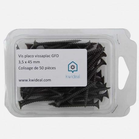 Vis placo phosphate 3,5x45 mm Vissaplac GFD colisage de 50 pièces