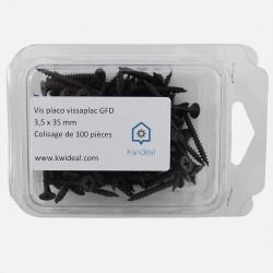 Vis placo phosphate noir 3,5x35 mm colisage de 100 pièces