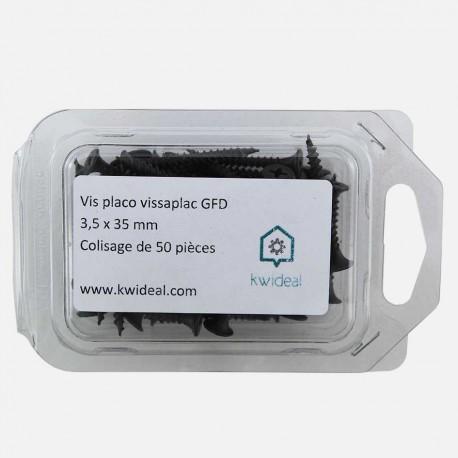 Vis placo phosphate noir 3,5x35 mm colisage de 50 pièces