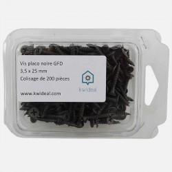 Vis placo phosphate noire 3,5x25 mm VISSAPLAC GFD colisage de 200 pièces
