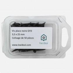 Vis placo phosphate noire 3,5x25 mm VISSAPLAC GFD colisage de 50 pièces