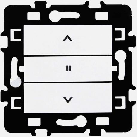 Commande de volet roulant 3 positions bouton poussoir Eur'ohm série Esprit