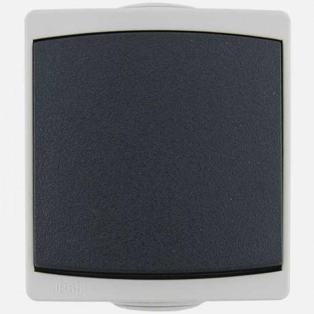 Interrupteur poussoir Ouessant IP55 gris Eur'ohm