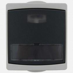 Bouton poussoir porte-etiquette lumineux Ouessant IP55 gris Eur'ohm