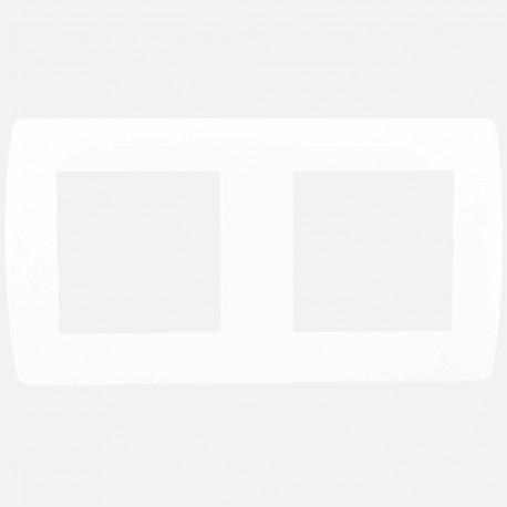 Plaque de finition gamme Esprit blanche 2 poste Eur'ohm