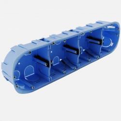 Boîte cloison sèche 4 postes XL pro Ø67 mm entraxe 71 P40 mm Eur'ohm