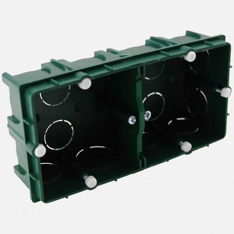 Boîte maçonnerie 2 postes XL tradi 75x75 P40 mm Eur'ohm