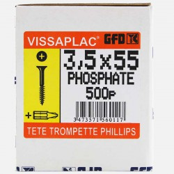 Vis placo phosphate noir 3,5x55 mm