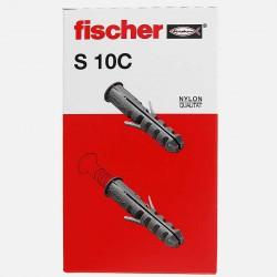 Cheville avec collerette Fischer S10C 10x50 mm pour vis 6 à 8 mm colisage de 50 pièces