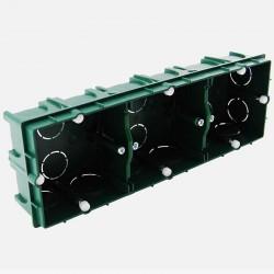 Boîte maçonnerie 3 postes XL tradi 75x75 P40 mm