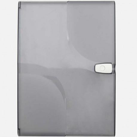 Porte transparente 2 rangées 13 modules pour coffret Q320 Michaud