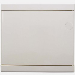 Porte blanche pour coffret Eur 'ohm 1 rangée de 13 modules