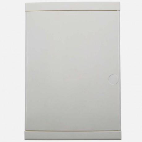 Porte blanche pour coffret 2 rangées de 13 modules