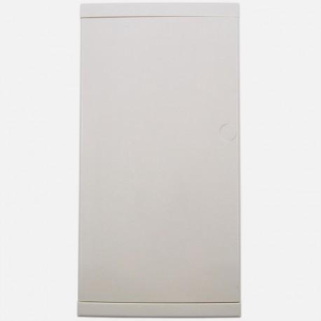 Porte blanche pour coffret Eur'ohm 3 rangées de 13 modules