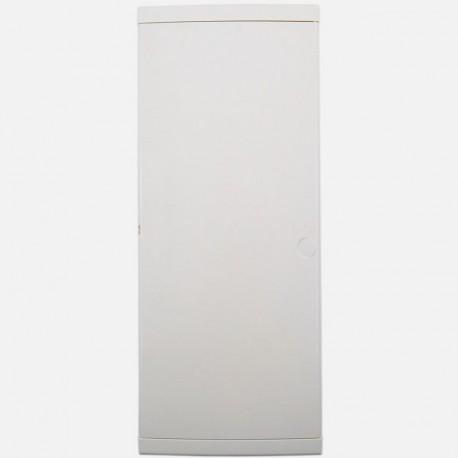 Porte blanche pour coffret Eur'ohm 4 rangées de 13 modules