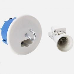 Boîte point de centre cloison sèche DCL Ø67 mm + Douille E27 Eur'ohm