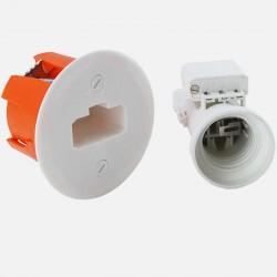 Kit Boîte d'applique Ø54 mm + Douille E27