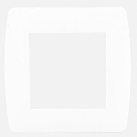 Pack chantier plaque simple 50 pièces Eur'ohm série Esprit blanc