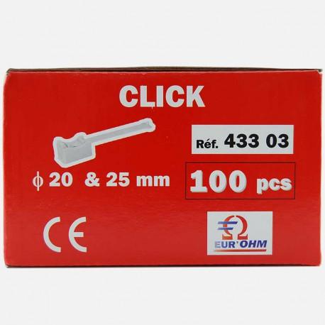 Embase à collier pour tube Ø 20 et 25 mm Eur'ohm