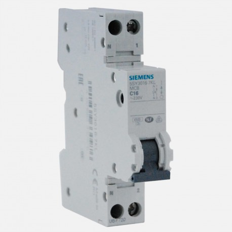 Disjoncteur en promotion : pack de 10 disjoncteurs phase neutre 16A Siemens PH+N