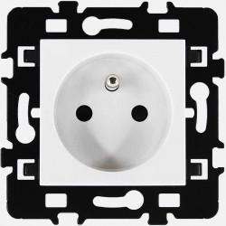 Prise 2P+T 16A Eur'ohm série Esprit blanc