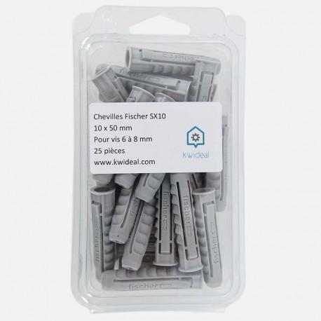 Cheville Fischer SX 10x50 mm pour vis de 6 à 8 mm
