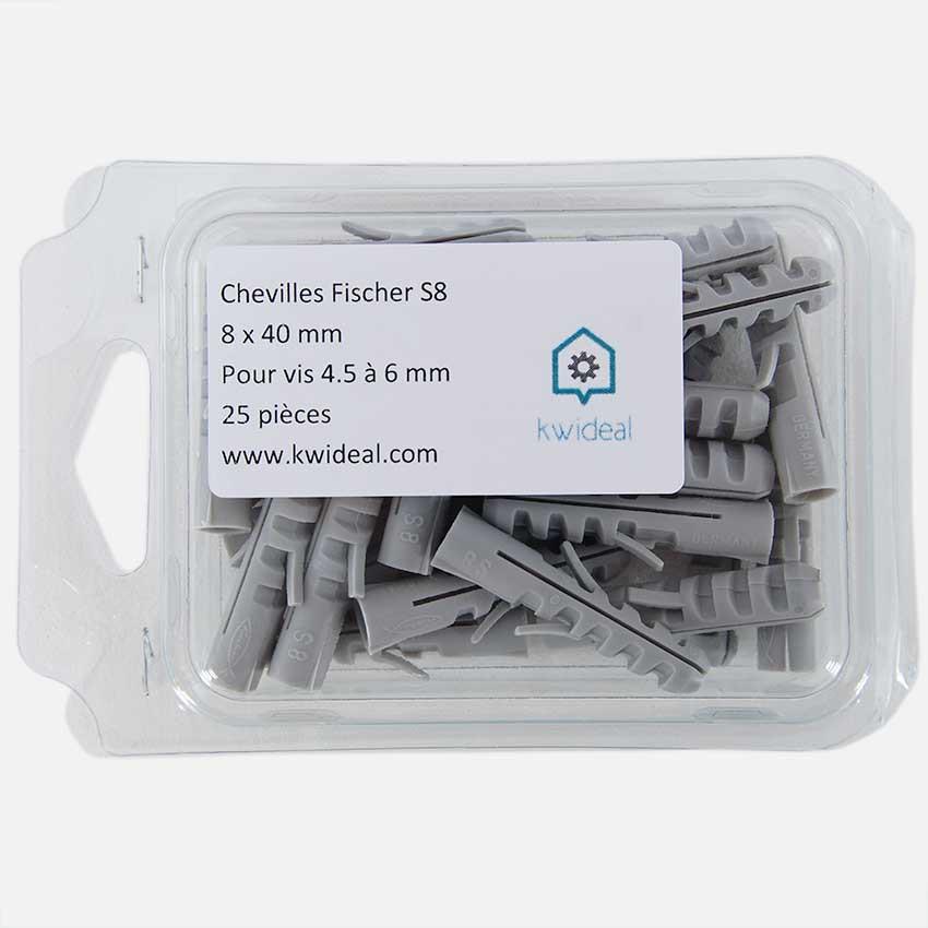 cheville fixation câble tél 40x6mm