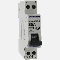 Disjoncteur PH+N connexion à vis 25 A - 230 volts Eurohm