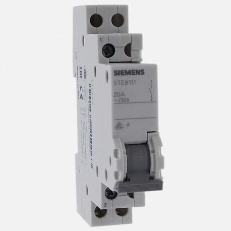 Interrupteur modulaire 1 pôle 20A 5TE8111 Siemens