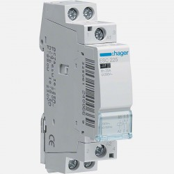 Contacteur modulaire 25A 2 pôles 230V Hager