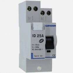 Interrupteur différentiel connexion à vis type AC 25A 30 ma - Eurohm