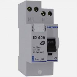 Interrupteur différentiel connexion à vis type A 40A 30 ma - Eurohm