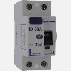 Interrupteur différentiel type AC 63A 30 ma connexion à vis - Eurohm