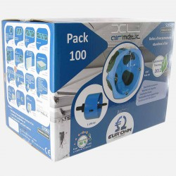 Pack de 100 Boîtes 1 poste étanches à l'air - XL air'métic Ø67 mm P40mm