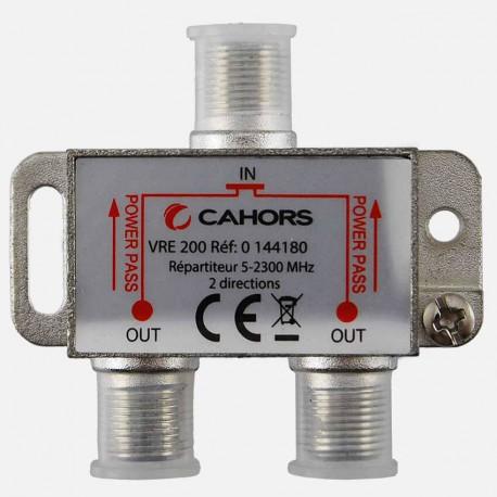 Répartiteur Télévision 2 directions 5 -2300 MHz Cahors