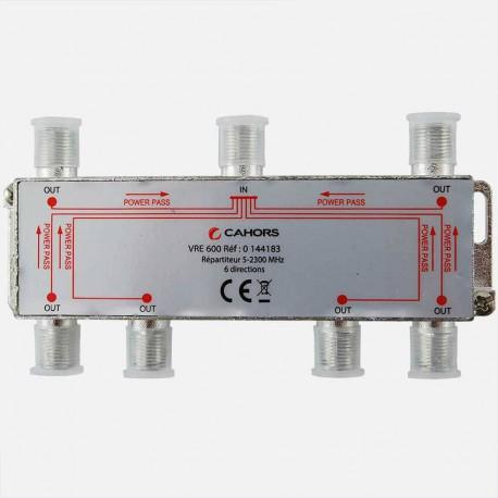 Répartiteur Télévision 6 directions 5 -2300 MHz Cahors