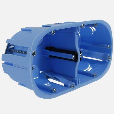 Boîte cloison sèche 2 postes XL pro Ø67 mm entraxe 71 P50 mm Eur'ohm