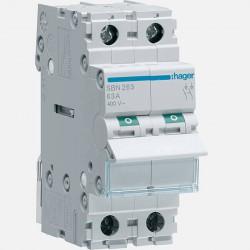 Interrupteur modulaires 2 pôles 63A SBN263 Hager