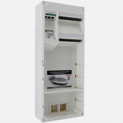 Coffret de communication Q 288 Multibox - 8 RJ45 Michaud